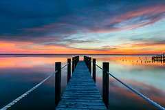 Currituck Sound, NC (dlos') Tags: duck 2019 sunset pier nc dock northcarolina color lines rope outerbanks obx wood sky water beautiful clouds landscape spring boards coastal waterscape