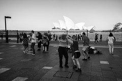 Salsa Lessons (Leighton Wallis) Tags: sony alpha a7r mirrorless ilce7r 55mm f18 emount sydney newsouthwales nsw australia circularquay sydneyoperahouse ferry busker tourists