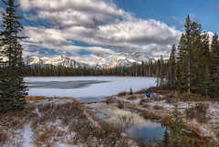 A View from the Smith-Dorien Trail (Phil's Pixels) Tags: autumn snow bullerpond ice smithdorrientrail sprayvalleyprovincialparkway photographer friend kcountry kananaskis canmore alberta