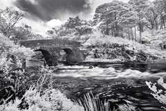 Old Weir Bridge, Killarney National Park. (IR) (Sean Hartwell Photography) Tags: killarney nationalpark oldweirbridge bridge river ir infrared trees kerry countykerry ireland
