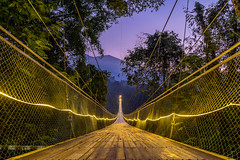 Situgunung Suspension Bridge Sunrise