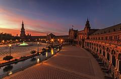 Plaza de España (ketil.melby) Tags: spain seville andalusia plaza de españa sunset