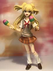 TGIF! (Sasha's Lab) Tags: rika jougasaki 城ヶ崎莉嘉 junior idolmaster school girl high action idol figure gsc tween maracas tgif jfigure figma uniform origamipaper