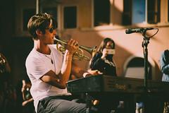 Solar trumpet (.KiLTЯo.) Tags: kiltro it italy roma rome piazzanavona street square music musician piano urban life people young guy trumpet