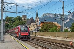 ÖBB Railjet Xpress Triebwagen 80-90 756 - Bhf Rattenberg - Tirol - AT (Frans Berkelaar) Tags: tirol oostenrijk öbb at austria rattenberg railjet triebwagen railroad 8090 8090756 railjetxpress rj756