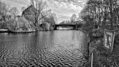 No anchorage here! (rainerpetersen657) Tags: hamburg гамбург германия germany pond water trees blackandwhite bw blancoynegro monochrome sony sonyalpha alemannia hamburgo