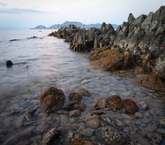 Mysterious Sea and Rocky Shore at Dusk, #2