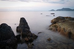 Mysterious Sea and Rocky Shore at Dusk, #1