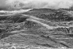 northern slopes of An Teallach (Francis Mansell) Tags: mountain mountainside anteallach westerross scotland scottishhighlands texture monochrome blackwhite niksilverefexpro2 cloud stony stone rock torridoniansandstone torridonian sàilmhòr
