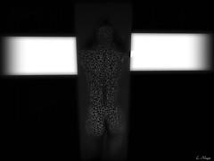 Quiet (Loegan Magic) Tags: secondlife dixmix gallery focus magazine statue blackandwhite surreal