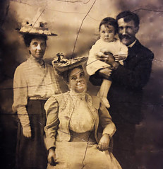 Baby Frank Griffin & Family, 1906 (JFGryphon) Tags: nellymcnulty maryannmcnultygriffin tomgriffin frankgriffin zeregaavenue westchestersquare thebronx tintype