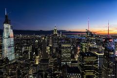 Midtown Manhattan (GirarFly798) Tags: new york newyork newyorkcity ny manhattan sunset hdr lights light long exposure usa united states america travel travelphotography top rock rockefeller center empire state