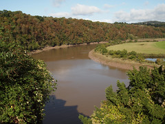 Bend in the Wye (ExeDave) Tags: pa065752 river wye chepstow castle casgwent monmouthshire south s wales gloucestershire landscape waterscape october 2019 tidal woodland wood castlewood summersend progressive rock festival gb uk live prog music band group concert gig the drill hall