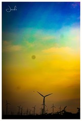 Shades of colours (Jansha Crazy) Tags: colour shades nature photooftheday photography yellow blue orange windmill