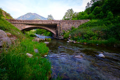 Old bridge in Europe (dannygreyton) Tags: mountains countryside country river nature architecture europe roadtrip rocks fujifilmxt2 fujifilm fujifilmxseries fujinon1024mm