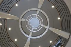 (Elbmaedchen) Tags: staircase schnecke treppenhaus architecture stairs university interior stairwell architektur helix universität escalier escaliers roundandround treppenauge upanddownstairs unterwegsmitmichael