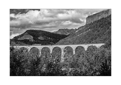 les viaducs du No-Man's-Land (Armin Fuchs) Tags: arminfuchs nomansland landscape viadukt lesviaducsdunomansland niftyfifty sky clouds bridge forest mountains