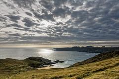 Pointe du Skeul (Lucille-bs) Tags: europe france bretagne morbihan belleîleenmer pointeduskeul nature paysage crépuscule nuage mer littoral rayon