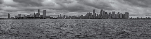 NY Day 7 - Liberty and Ellis Islands: 9-shot panorama of the New York skyline.