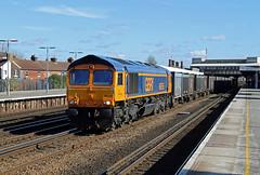 66755 Tonbridge (CD Sansome) Tags: tonbridge gbrf gb railfreight train trains station 66 shed 66755 4y19 mountfield sidings southampton western docks gypsum