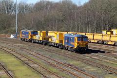 73964 73213 Tonbridge West Yard (CD Sansome) Tags: tonbridge gbrf gb railfreight train trains sitt 73 73964 73213 west yard