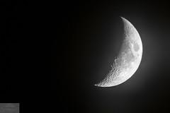 Wyoming Moon (Wycpl) Tags: moon wyoming jcpphotography monochrome blackandwhite waxingmoon