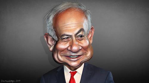 Benjamin Netanyahu - Caricature, From FlickrPhotos