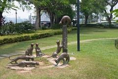 Cats sculpture in Kuching (Jim Nicholson) Tags: kuching malaysia my borneo sculpture sarawak nikon d850 nikond850 nikkor2470mmf28