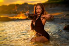 Brieani Fall 2019 01 (JUNEAU BISCUITS) Tags: sunset sword portrait portraiture sonya7riii sony beauty glamour hawaii hawaiiphotographer