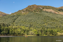 "Kayaking on Loch Lubnaig under hills forest and a Quarter Moon. (Scotland by NJC.) Tags: lakes lochs reservoirs waters meres tarns ponds pool lagoon lago 湖 jezero sø meer järvi lac see λίμνη 호수 innsjø jezioro озеро hill تَلّ colina 小山 brdo kopec bakke forhøjning landskabet heuvel mäki colline hügel λόφοσ collina 丘 언덕 ås wzgórze deal холм backe เขาเตี้ยๆ tepe coğrafya пагорб đồi forest woodland plantation trees grove ""temperate rainforest"" غَابَة floresta 森林 šuma les skov bos ""bosque grande"" wald δάσοσ foresta skog las pădure kayaking callander lochlomondandtrossachsnationalpark scotland"