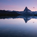 Matterhorn reflected in Stellisee