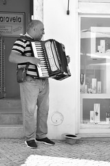 Busker (James Mans) Tags: nikon d5500 portugal sigma 1750 1750mm28 lagos accordian musician busker blackandwhite monochrome bw black white