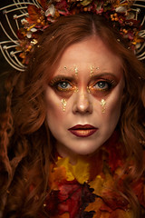 Autumn (Wurmwood Photography) Tags: nikon godox fovitec beauty face eyes makeup fx special creative fall autumn festive holiday photography photograph person woman women lovely red