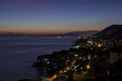 Riviera Ligure (Dario654321) Tags: pieveligure liguria italy scenic nopeople landscape italia mare beach city seascape evening light night sky clouds ngc travel europe