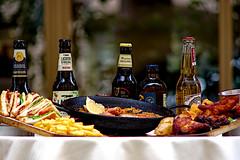 Café & Tapas (Fnikos) Tags: street restaurant table food comida drink drinks paella color colour colores colours colors dark light shadow shadows dof depth depthoffield bokeh outside outdoor