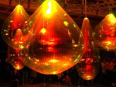 Light Night Baubles 2 (oneofmanybills) Tags: lightshow leeds lightnight baubles olympus popart