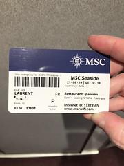 Key Card Pass - Le Passe partout! Cruise Croisière MSC Seaside (Laurent_D.) Tags: cruise croisière msc seaside caraïbes caribbean ship