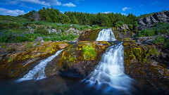 Waterfall (sigurbjorn67) Tags: water waterfall iceland europe summer summertime green landscape landscapephotography blue canon canon5d rock travel tree