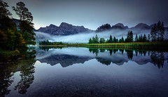 Before sunrise (gregor158) Tags: sunrise austria österreich almsee lake reflection tree trees mountains fog mist mirror image sky landscape nature autumn mystic blue