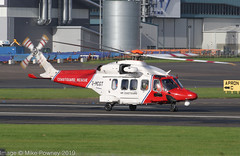 G-MCGT - 2014 build Agusta-Westland AW189, about to lift on departure from Prestwick on Runway 12 (egcc) Tags: 92006 aw189 agustawestland coastguard coastguardrescue egpk hmcoastguard helicopter lightroom pik prestwick gmcgt