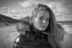 Windswept (plot19) Tags: bamburgh northumberland sea seaside sky nikon north northern plot19 photography portrait people england english east uk britain british blackwhite blackandwhite family love light liv olivia