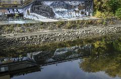 Baie-Saint-Paul Québec Canada (Daniel St-Jean) Tags: reflet gaf murale eau nature