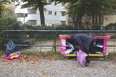 Give the migrants clothes. Berlin, October 2019. (joelschalit) Tags: berlin neukölln germany deutschland migrants asylumseekers immigrants refugees europe europeanunion eu politics poverty racism discrimination diversity multiculturalism streetphotography street photojournalism journalism fujifilm x100f