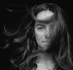 DSCF2458-5 (YouOnFoto) Tags: girl meisje dancer danser britt zwart wit black whitte portret portrait haar hair eyes ogen intens sensual closeup square fujifilm bestportraitsaoi