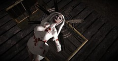 "Pryce: Macabre Halloween Challenge 2.0 ""Possessed"" (Miru in SL) Tags: secondlife sl inner demons halo macabre gothic pryce halloween challenge 20 prada beauty salt pepper sp violetility serendipity poses bloody"