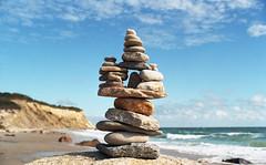 Beach near the Clay Head Trail (neilsonabeel) Tags: blockisland rhodeisland beach rock nikonfm2 nikon nikkor film analogue newengland ocean sea cloud wave rocksculpture