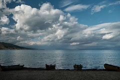 Ohrid Lake (Elton_13) Tags: pogradec ohrid lake clouds boats albania reflections polarizer four