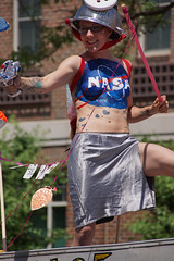 NASA's next-gen spacesuits will give astronauts more freedom to move on the moon (wwimble) Tags: button spacecanoe raygun astronaut helmet spacesuit doodahparade 2014 shortnorth columbus ohio independenceday fourthofjuly parade cards colander nasa bodypaint