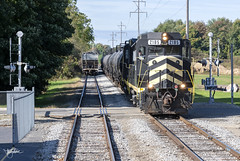 Indiana Northeastern, Quincy, Michigan (Troy Strane) Tags: indiananortheastern quincy michigan oldroad nyc conrail penncentral gp30 nikon d850 railroad track freight train emd