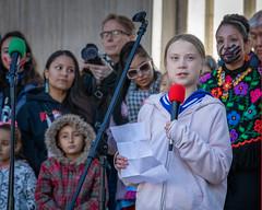 Greta Thunberg (Streetsblog Denver) Tags: denver colorado unitedstatesofamerica demonstration gretathunberg havencoleman climatechange climateportest fridaysforfuture stike studentstrike student